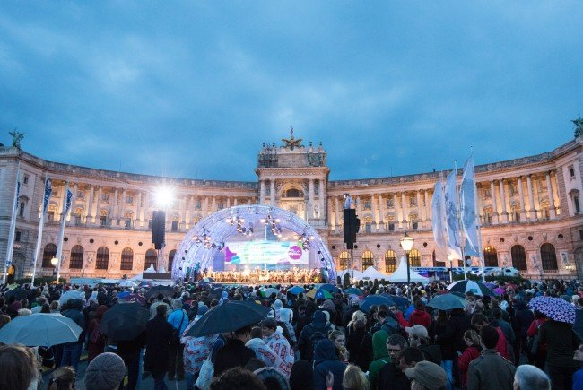 Das Fest der Freude wird erneut am Heldenplatz stattfinden