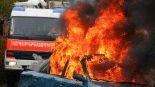 Auto in Wien abgebrannt : Verkehrschaos am Gürtel