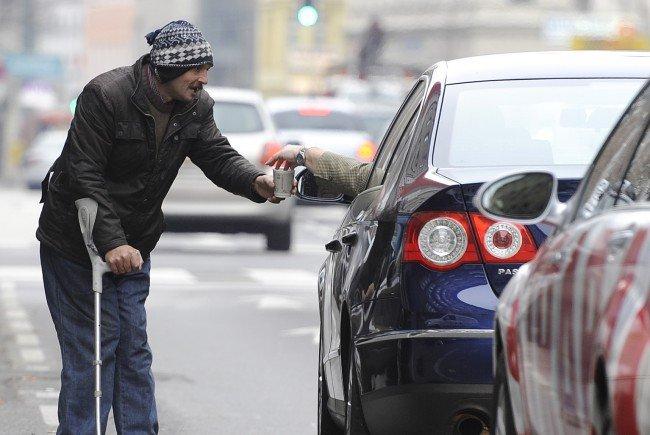 Die Polizei Wien nahm fünf Bettler aus dem europäischen Raum fest.
