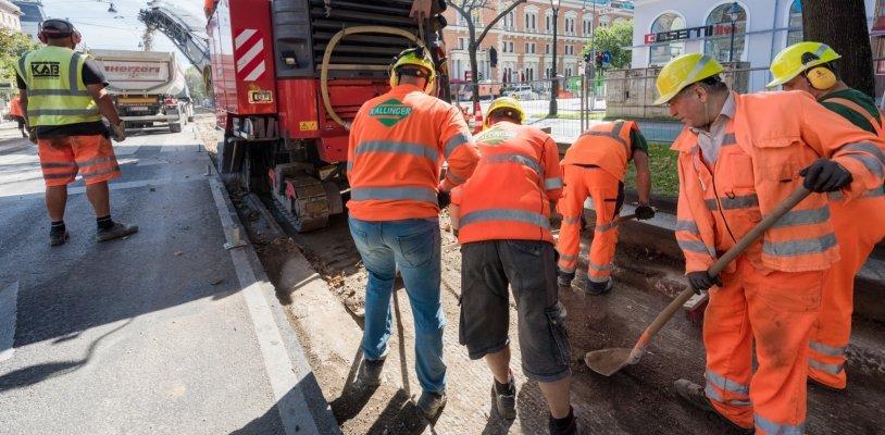 Gleisbauarbeiten: Sperren am Wiener Ring