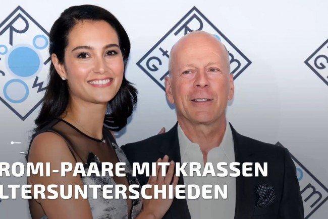 Bruce Willis ist 23 Jahre älter als seine Frau.