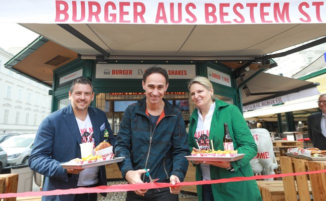 Am Naschmarkt gibt es ab sofort einen Burger-Kiosk.