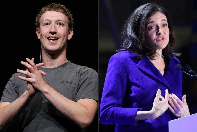 Mark Zuckerberg und Sheryl Sandberg.