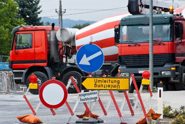 In zwei Wiener Bezirken werden Bauarbeiten durchgeführt.