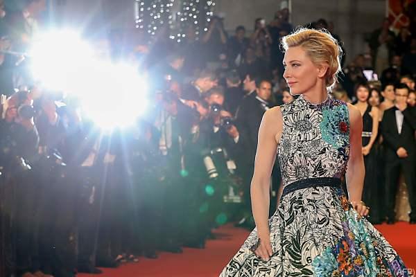 Jurypräsidentin Cate Blanchett wird eine Erklärung verlesen