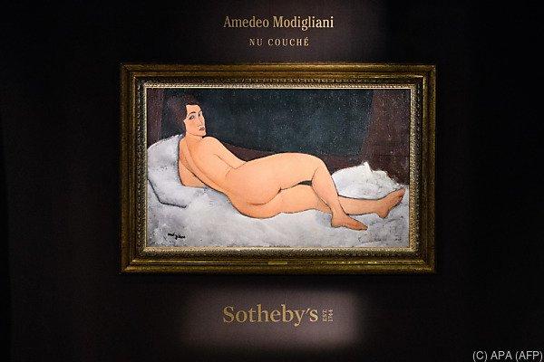 """""""Nu couche (sur le cote gauche)"""" von Amedeo Modigliani"""