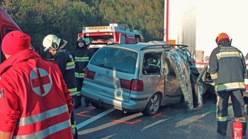 Sperre auf A21 Richtung Wien wegen schwerem Verkehrsunfall