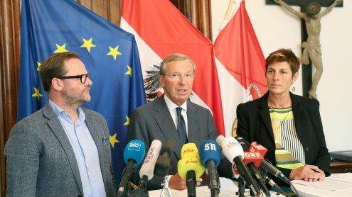 Regierungsverhandlung beendet: Dreier-Koalition für Salzburg