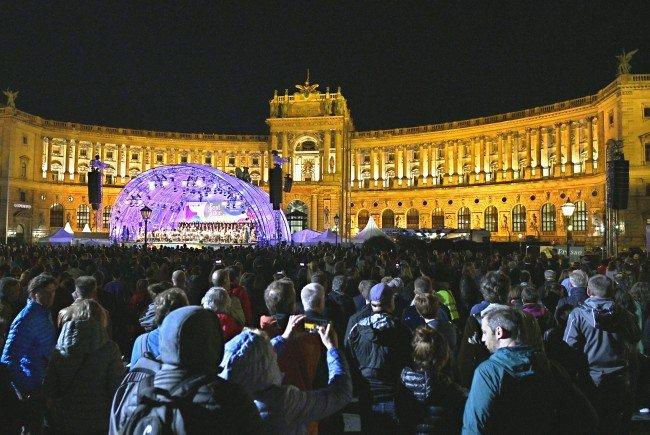 """Am Dienstagabend wurde am Wiener Heldenplatz das """"Fest der Freude"""" gefeiert."""