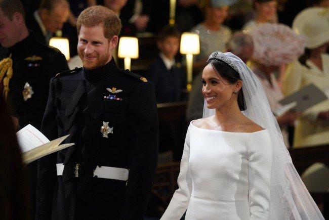 Prinz Harry heiratete seine Herzogin Meghan am Samstag in London.