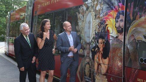 Life Ball 2018: Straßenbahn als Botschafter in Wien unterwegs