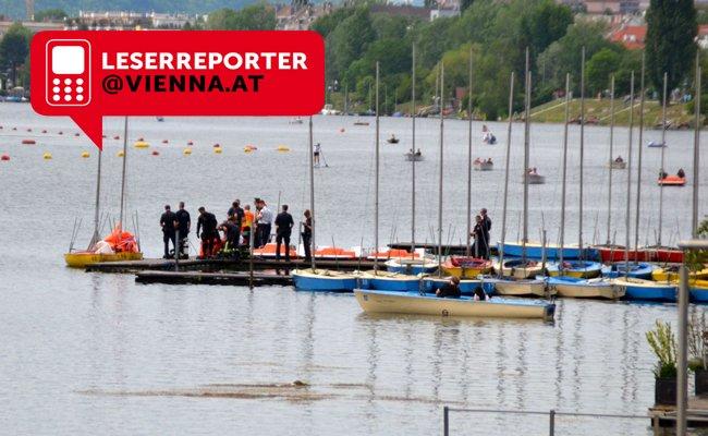 In der Alten Donau in Wien wird ein Jugendlicher gesucht.