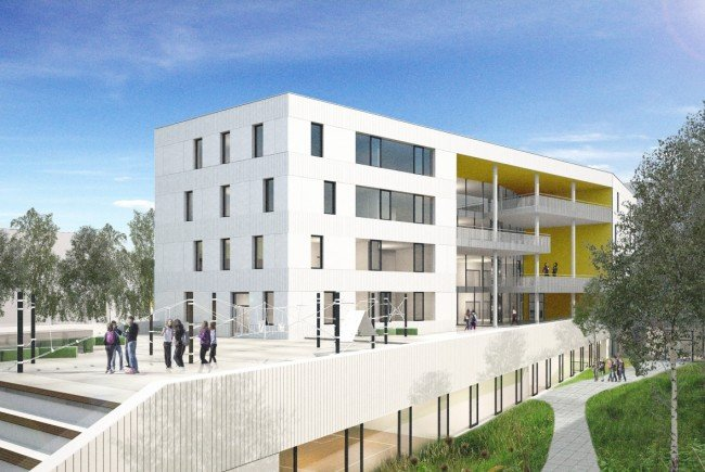 """Am Wienerberg soll im Bereich der zukünftigen """"Biotope City"""" an der Triester Straße eine 16-klassige neue Mittelschule entstehen."""