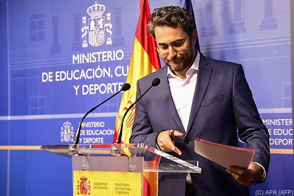 Kulturminister Maxim Huerta musste seinen Hut nehmen