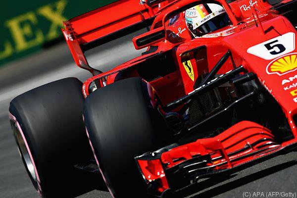 Sebastian Vettel auf dem Weg zur Pole Position