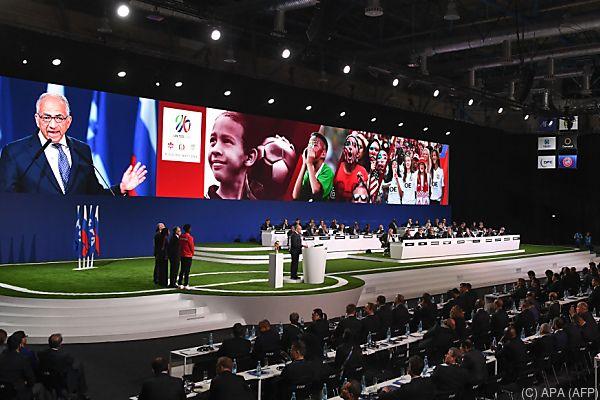 Vergabe beim FIFA-Kongress in Moskau
