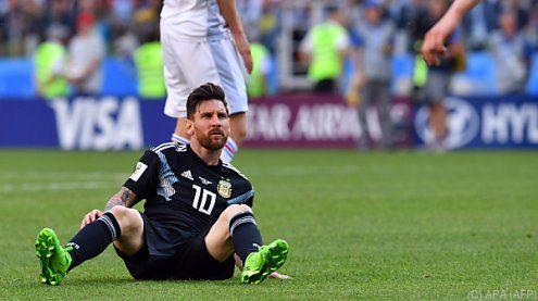 WM: Argentinien gegen Island nur 1:1 - Messi verschoss Elfmeter