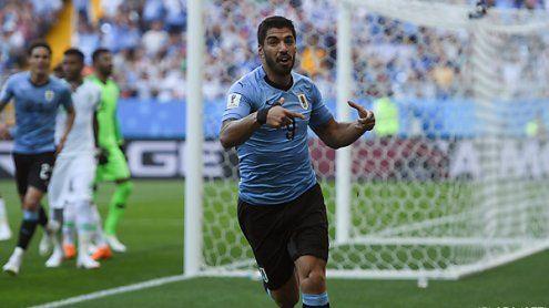 Uruguay mit 1:0 gegen Saudis wie Russland im WM '18-Achtelfinale