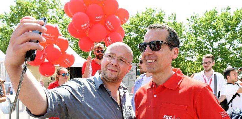 Politiker auf dem Wiener Donauinselfest