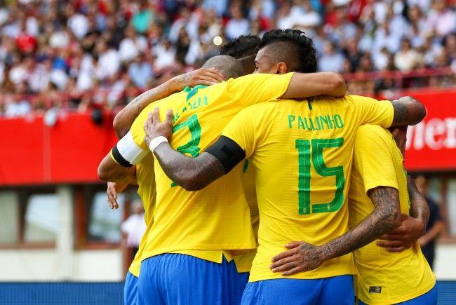 Brasilien setzte sich am Sonntag mit 3:0 über Österreich durch.