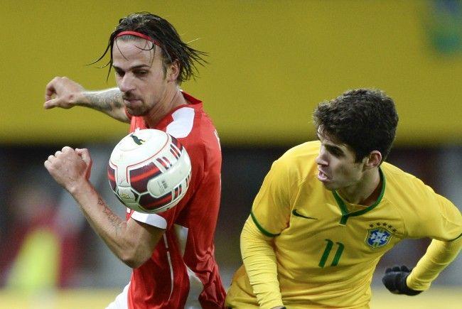 Österreich spielt am Sonntag ein Testspiel gegen Brasilien.