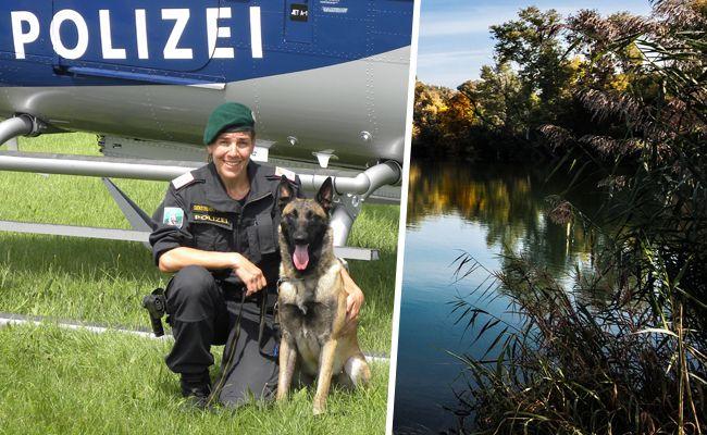 Der Mann wurde vom Polizeihund in der Alten Donau aufgespürt.