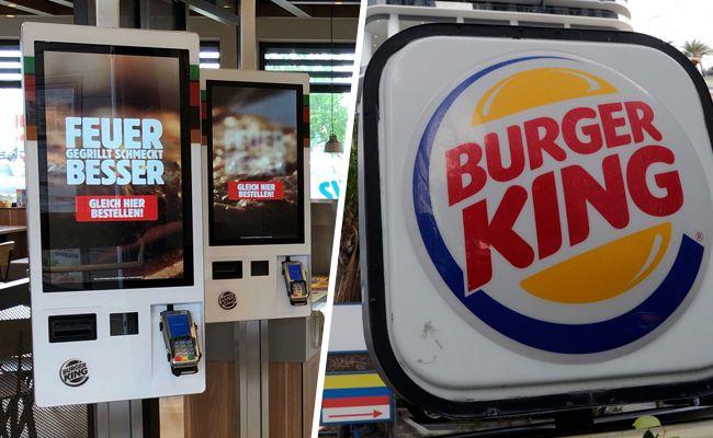 Saftige Burger auf Knopfdruck durch die neuen Bestell-Terminals in Wien.