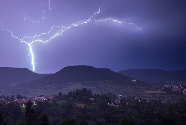 Der Gewitterhotspot lag am Dienstag in der Steiermark.