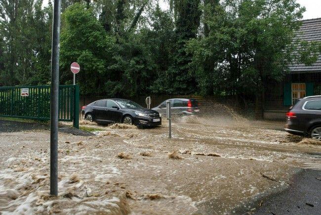 Am Dienstag wurden einige Ortschaften in Österreich von den Unwettern heimgesucht.